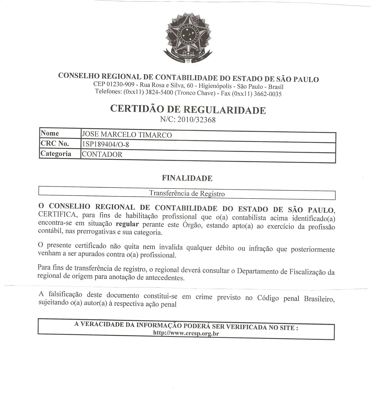 Credenciado para Transferência de Registros
